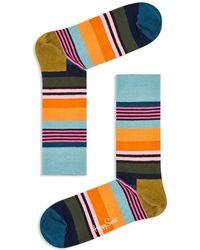Happy Socks - Multi-color Striped Socks - Lyst