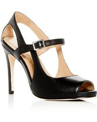 Joan Oloff - Women's Gigi Leather Mary Jane High-heel Sandals - Lyst