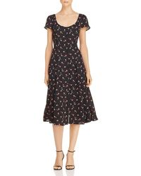 Lost + Wander - Lost + Wander Floral Button-front Midi Dress - Lyst