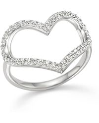 KC Designs | Diamond Heart Ring In 14k White Gold | Lyst