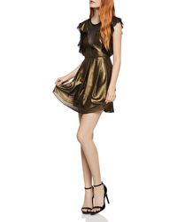 BCBGeneration - Mesh-inset Metallic Dress - Lyst