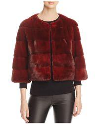 Maximilian | Cropped Mink Fur Jacket | Lyst