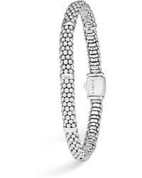 Lagos - Signature Sterling Silver Petite Caviar Bracelet - Lyst