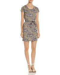 Scotch & Soda - Belted Floral-print Dress - Lyst