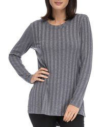 B Collection By Bobeau - Alex Ribbed Tunic Tee - Lyst
