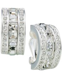 Carolee - Square & Pavé Stone Clip-on Earrings - Lyst