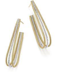 ff237e5de Meira T 14k Yellow Gold Kite Disc Earrings With Diamonds in Metallic - Lyst