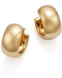 Bloomingdale's - 14k Yellow Gold Wide Band Polished Hoop Earrings - Lyst