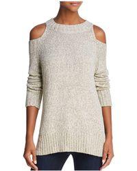 Aqua | Slit Cold-shoulder Sweater | Lyst