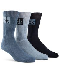 Calvin Klein - Cushioned Athleasure Socks - Pack Of 3 - Lyst