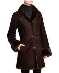 Maximilian - Maximilian Shearling Coat With Mink Collar & Cuffs - Lyst