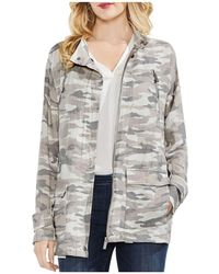 Vince Camuto - Avenue Camo Belted Military Jacket - Lyst