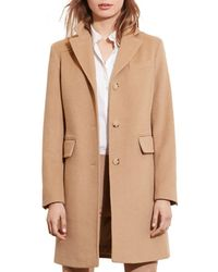 Ralph Lauren - Lauren Flap Pocket Reefer Coat - Lyst