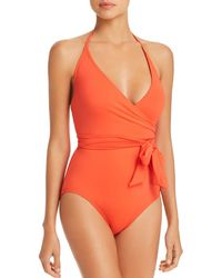 Vince Camuto - Wrap-front One Piece Swimsuit - Lyst