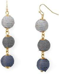 Aqua - Ball Drop Earrings - Lyst