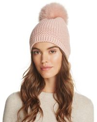 Kyi Kyi - Slouchy Hat With Fox Fur Pom-pom - Lyst