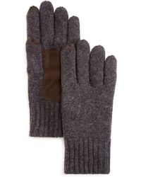 Bloomingdale's - Suede Patch Tech Gloves - Lyst