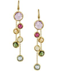 Marco Bicego | Jaipur 18k Yellow Gold And Multi-stone Double Drop Earrings | Lyst