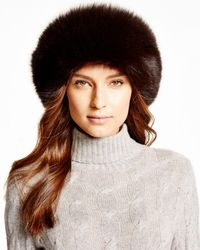 Maximilian - Maximilian Fox Fur Headband - Lyst