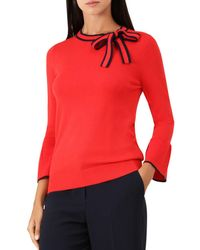 Hobbs - Jess Bow Detail Sweater - Lyst