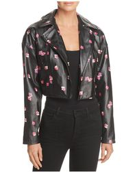 Rebecca Taylor - Floriana Cropped Leather Motorcycle Jacket - Lyst