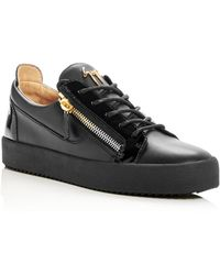 Giuseppe Zanotti - Men's Leather Low-top Sneakers - Lyst