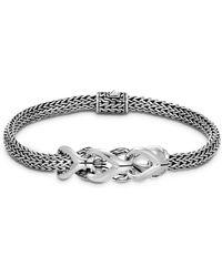 John Hardy - Sterling Silver Classic Chain Interlocking Link Bracelet - Lyst