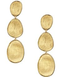 Marco Bicego - 18k Yellow Gold Lunaria Three Tiered Drop Earrings - Lyst