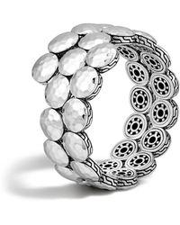 John Hardy | Dot Sterling Silver Disc Double Coil Bracelet | Lyst