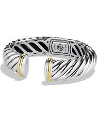 David Yurman - Waverly Bracelet With Gold - Lyst
