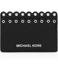 MICHAEL Michael Kors - Scalloped Leather Card Case - Lyst