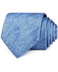 Bloomingdale's - Herringbone Solid Classic Tie - Lyst