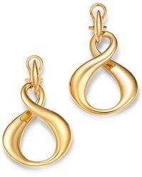 Bloomingdale's - Infinity Drop Earrings In 14k Yellow Gold - Lyst