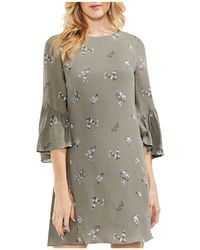 Vince Camuto - Bouquet-print Bell-sleeve Dress - Lyst