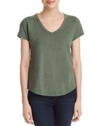 Eileen Fisher - Organic Cotton V-neck Tee - Lyst