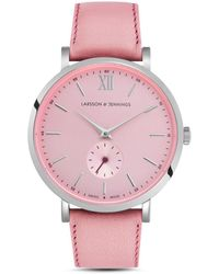 Larsson & Jennings - Lugano Kulor 38mm Stainless Steel And Leather Watch - Lyst