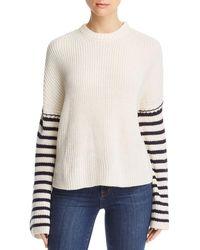 Aqua - Striped - Arm Sweater - Lyst