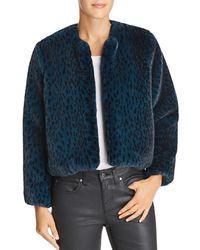 Michelle Mason - Faux Fur Cropped Jacket - Lyst