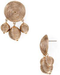 Aqua - Metallic Ball Drop Earrings - Lyst