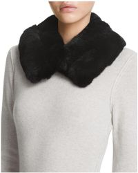 Surell - Rabbit Fur Collar - Lyst