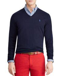 2bf5b5ae1a61 Lyst - Polo Ralph Lauren Classic Fleece Crew-Neck Sweater in White ...