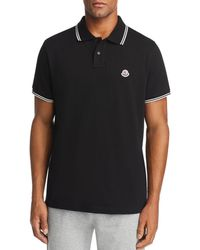 1d43a7eb Lyst - Moncler Twin-tipped Short-sleeve Pique Polo in Black for Men