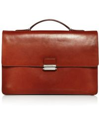 Cole Haan - Washington Grand Leather Top Handle Briefcase - Lyst