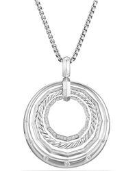David Yurman - Stax Medium Pendant Necklace With Diamonds - Lyst