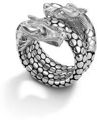 John Hardy - Naga Sterling Silver Coil Ring - Lyst