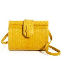 Ximena Kavalekas Carmen Python Convertible Belt Bag - Yellow