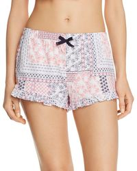 Jane & Bleecker New York - Printed Knit Boxer Shorts - Lyst