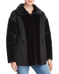Bernardo - Reversible Faux Shearling Coat - Lyst