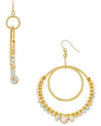 Chan Luu - Double Loop Drop Earrings - Lyst