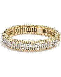 David Yurman   Tempo Bracelet With Diamonds In 18k Gold   Lyst